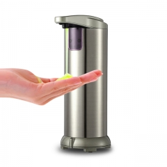 automatic induction soap dispenser Hand sanitizer bottle stainless steel soap dispenser silver one size