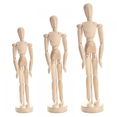 Wooden Crafts Home Decor Figurines Wooden Joints Puppets Flexible Human Model Home Painting Sketch Wooden 8 inches