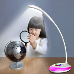 Creative 256 colors Atmosphere table lamp student table lamp Oval touch table lamp white one size 5w