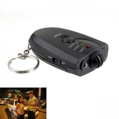 Design Keychain LED Alcohol Tester Portable Breathalyzer Alcohol Analyzer Diagnostic Tool black one size