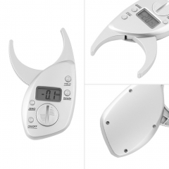 Body Fat Caliper Monitors Electronic Digital body fat analyzer Tape Measure Pack Skin Muscle Tester silver