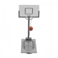 Basketball Hoop Mini Desktop Folding Basketball Machine Stress Reliever Creative Small Rebound gray one size