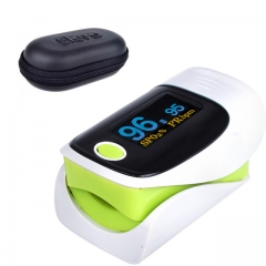 Finger Oximeter Digital LED Fingertip Pulse Oximeter Pulse Rate Oxygen Monitor Health Care green one size