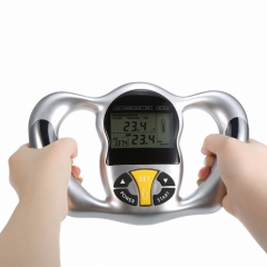 hand hold meter measuring instrument body fat meter electronic human body fat analyzer silver one size