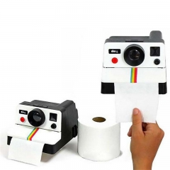 Retro Cute Camera Paper Towel Paper Holder Tube Toilet Paper Tray Paper  Pumping  Tissue Box Pumping white one size