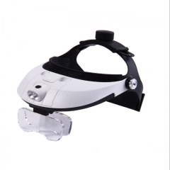 81001-H ABS  Adjustable Wearing Style Magnifier with 5 Acrylic Optical Lens Detachable LED Light
