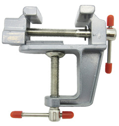 Miniature Small Jewelers Hobby Clamp On Table Bench Vise Mini Tool Vice Muliti-Funcational silver one size