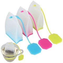 Silicone Tea Strainer Herbal Spice Infuser Filter Diffuser Kitchen Coffee Tea random color one size
