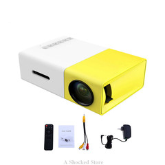 YG300 LCD LED Portable Projector Mini 400-600LM 1080p Video 320 x 240 Pixel LED Lamp Player