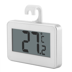 Household High precision waterproof electronic refrigerator Frost Call the police thermometer white one size