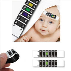 Forehead Head Strip Fever Body Baby Child Kid Adult Check Test Temperature Monitoring black white one size