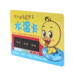 Baby Bath Thermometer Card Water Shower Temperature Test Measuring Reusable yellow one size