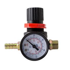 Spray Gun Air Regulator 1/4'' BSP Diaphragm Thread Mini Tail Pressure Gauge Air Filter Regulator