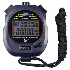 2 Rows 10 Memories Handheld Electronic Stop Watch Digital Timer Sports Counter Stopwatch PC2810