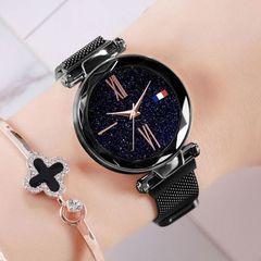 Vibrato Same paragraph magnet Magnet Milan Starry sky Ms Watch black