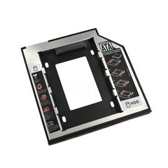 HDD Caddy 9.5mm for 9.5mm SSD Case Hard Disk Drive Enclosure Bay for Notebook ODD Optibay CD-Rom black