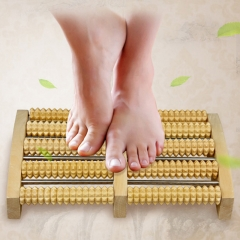DoubleBetter Manual Foot Massages, Wooden Roller Type Health Care Stress Relief Equipment wooden