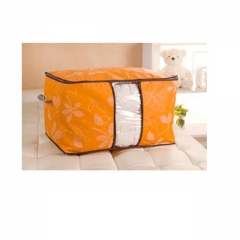 DoubleBetter Two Pieces Clothing Blanket Pillow Box Holder Container Organizer Orange