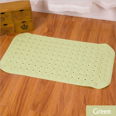 DoubleBetter Non-Slip Clear PVC Bathtub Mat - Extra Long Shower Mat Green 38cm*71cm
