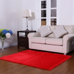 DoubleBetter Indoor Modern Area Rugs Fluffy Living Room Carpets Suitable for Home Red 50cm*80cm*2.5cm