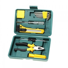 DoubleBetter Simple Suit 10 Pieces Household Tool Kit yellow 20*14*5