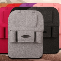 DoubleBetter Two Pieces Car Back Seat Organizer,Hanging Bottle Holder Travel Storage Bag Box Case