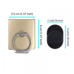 DoubleBetter Phone Ring Grip plus Car Mount Hook Best Match for all Phones/Tablets Golden