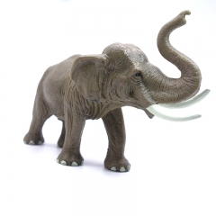 DoubleBetter Elephant Figure toy Gift Collection For Kids and collectors Grey 15.5cm-6.5cm-10.5cm