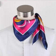 DoubleBetter Woman's Silky Scarf Square Mixed Pattern & Colors Fashion Accessory Set blend