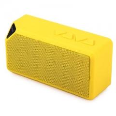 X3 Bluetooth V2.1 Mini Wireless Portable Speaker with FM Radio USB Input yellow one size