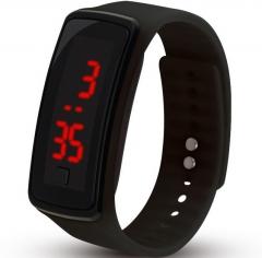 LED Digital Bracelet Watch for Students Boys Girls Electronic Watch black one size