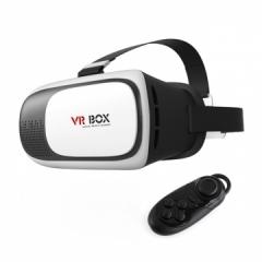 120FOV VR Box 3.0 Virtual Reality VR Plus Cardboard Real Glass Lenses Helmet 3D Glasses