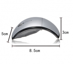 New Fashion Foldable Fold 2.4 Ghz Wireless Arc Optical Mouse Mice USB Receiver for PC Laptop
