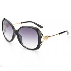Women 's large sunglasses tide and the United States full frame o - sunglasses face fashion glasses Black 2041