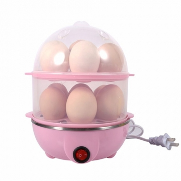 Practical Mini Electric Egg Boiler for Home Kitchen Eggs  Steamer Kitchen Tool Egg Boiling -Pink