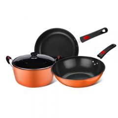 Activing Outdoor Camping Hiking Cookware Backpacking Cooking Cook Picnic Bowl Pot Orange one set