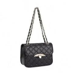 Handbag 2 Colors Plaid Chain Belt Fashion Shoulder Bags Black Black Normal black normal