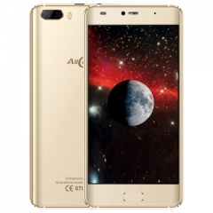 Allcall Rio 3G Smartphone 5.0 inch Android 7.0 1.3GHz 1GB RAM 16GB ROM GPS 3D Curved glod one size