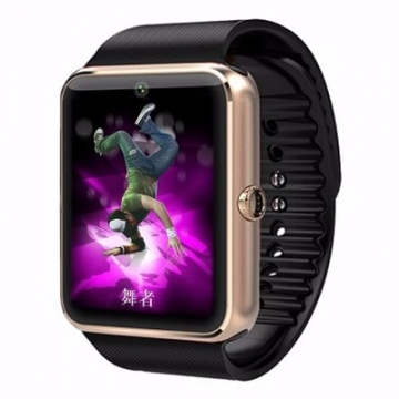 Smart Watch GT08 Phone Clock with Sim Card Slot Push Message Bluetooth WristWatch Android System Glod one size