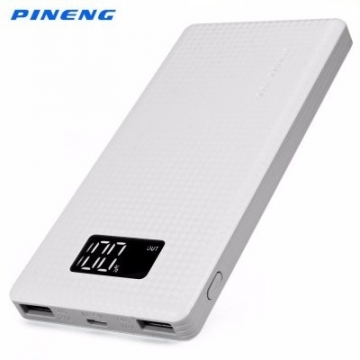 Pineng Dual USB Output Power Bank - 10000mAh - PN-963 white 10000