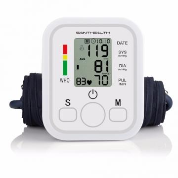 Digital LED Blood Pressure Monitor Heart Beat Meter Machine Tonometer for Measuring white