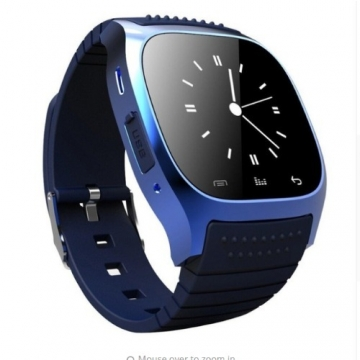 M26 Waterproof Smartwatch Pedometer with LED Music Player for IOS & Android Phone - blue free size