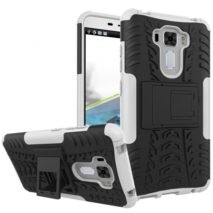 the best attitude d888d aded0 ZC551KL Case, Hard PC+Soft TPU Cover for ASUS Zenfone 3 Laser 5.5 inch  White Shockproof Tough Dual Layer