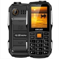 Africa Hot sale Fashion Feature Phones Cheap and affordable Big battery 6800mAh dual sim phone black