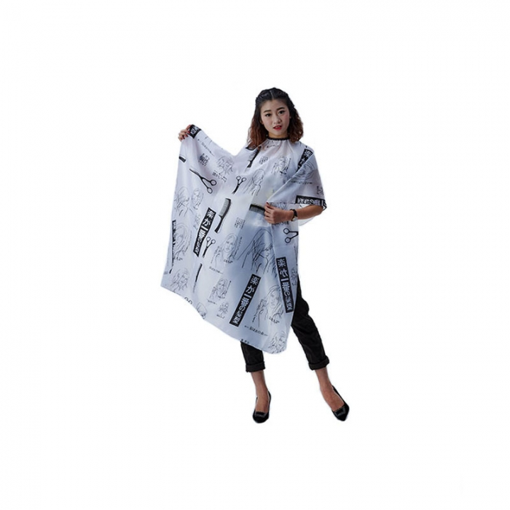 Adult Hair Cutting Cape Hairdressing Tool black one size
