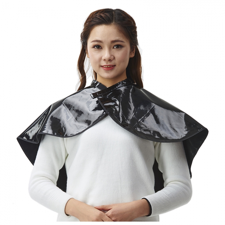 PVC Hair Cutting Cape Coloring Apron Black One Size