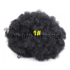 African Artifical Short Wavy Curly Wigs 1#Black One Size
