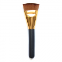 makeup powder brush women's beauty tool wood handle Black Bristle