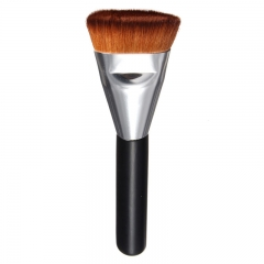 makeup powder brush women's beauty tool wood handle Silver Tube