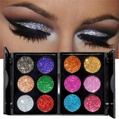 2017 Sexy Multicolor Glitter Eye Shadow Palette Shiny Eyeshadow Palette Makeup To Faced Cosmetics B